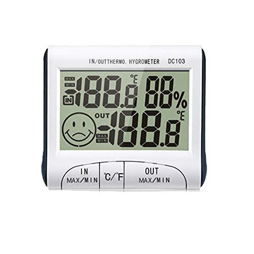 Price comparison product image Yaoaomon Electronic Hygrometer Thermometer Portable Frost Press Probe Thermometer white