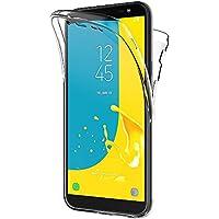 AICEK Cover Samsung Galaxy J6 2018, 360°Full Body Cover Samsung J6 Silicone Case Molle di TPU Trasparente Sottile Custodia per Galaxy J6 2018 (5.6 Pollici)