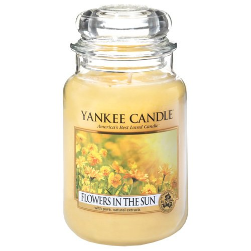 YANKEE CANDLE Flowers in The Sun Duftkerze, Glas, gelb 17.5 x 9.5 x 17.5 cm -