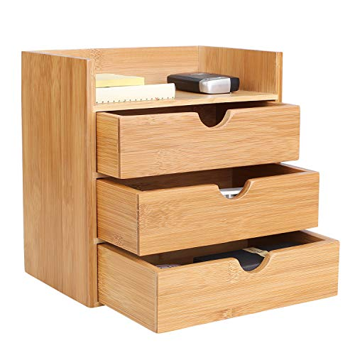 Homfa Bamboo Office File Sorter ...