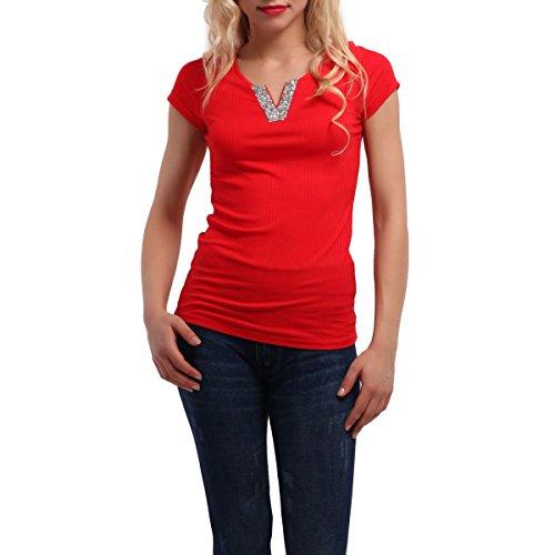 La Modeuse - T-shirt femme Rouge