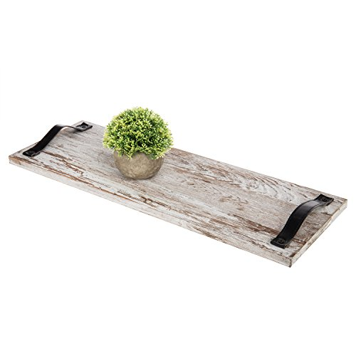 lz Plank Serviertabletts mit Strap Griffe, Set von 2 ()