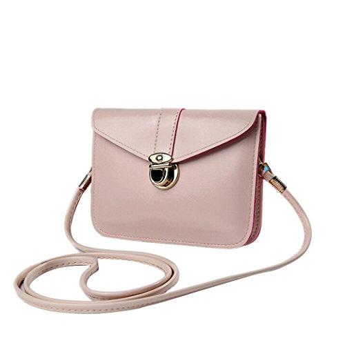 Sannysis Ladies Bag In Pelle Borse A Spalla Singola Messenger Phone Bag Beige