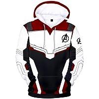 EUDOLAH Men's 3D Print Long Sleeve Hoodie Avengers Endgame MCU Series Film Zipper Jacket Superhero Fans Cosplay Sweatshirt(3-Wine red-Q3846,XL)