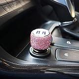 Dual USB-Autoladegerät 3D Bling Diamant Strass Handgefertigt für Apple und Android-Geräte, Autoladegerät Bling, Bling Zubehör für Frauen (pink)