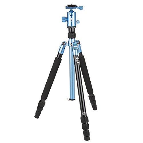 SIRUI T-004X Traveler Light Dreibeinstativ + C-10X Kugelkopf *alte Version* (Alu, Höhe: 139cm, Gewicht: 0,95kg, Belastbarkeit: 6kg) blau