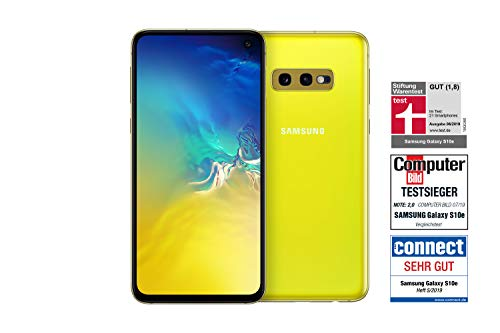 Samsung Galaxy S10e Smartphone (14.7cm (5.8 Zoll) 128 GB interner Speicher, 6 GB RAM, Dual SIM, Canary Yellow) [Standard] Deutsche Version
