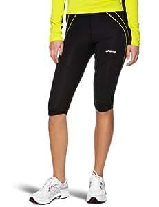 Asics Women's Knee Tight - Black/Blazing Yellow, X-Small