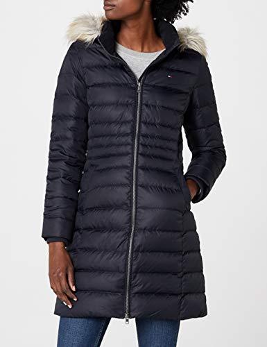 Tommy Jeans Hilfiger Denim Damen Mantel THDW Basic Coat 3, Schwarz (Black Beauty 003/Dark Blue), X-Small - 5