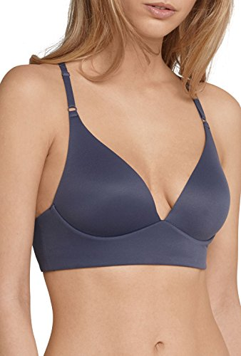 Schiesser Damen BH Mix & Relax Lounge Bra Anthrazit