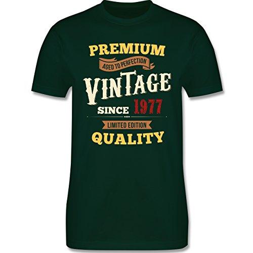 Geburtstag - 40. Geburtstag Vintage 1977 - Herren Premium T-Shirt Dunkelgrün