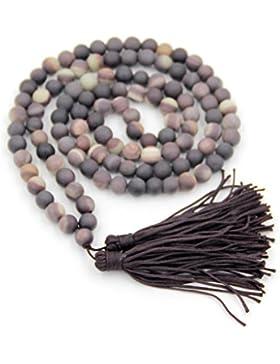 Ovalbuy 8mm zipao Jaspis Stein Perlen tibetanisch buddhistisch Meditation Mala Rosenkranz