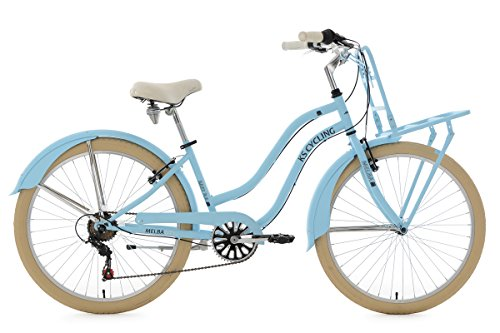 KS Cycling Damen Beachcruiser Cargo Cruiser Melba Fahrrad, Blau, 26