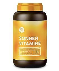 Vitamin D3, K2 und pflanzliche Omega 3 Fettsäuren   SONNENVITAMINE   Ohne Zusatzstoffe, ohne Hilfsstoffe   80 Kapseln
