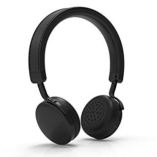 Bluetooth Headphones, iDeaUSA Wireless On-ear Headpones with apt-X, Stereo Portable Headset with Mic for Smart Devices, TV - Black