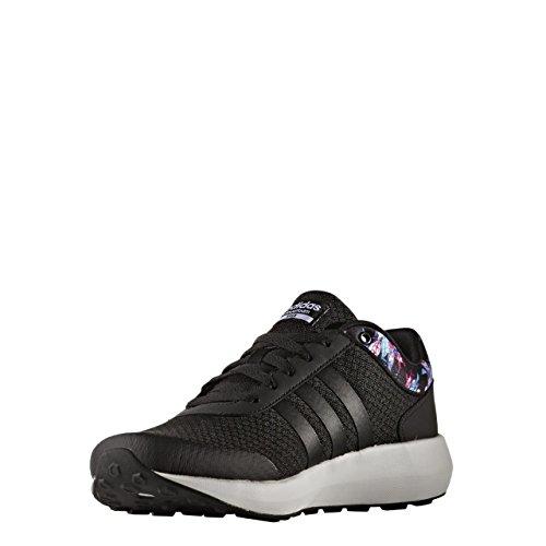 adidas Cloudfoam Race W, Sneaker Bas du Cou Femme Noir (Negbas/negbas/ftwbla)