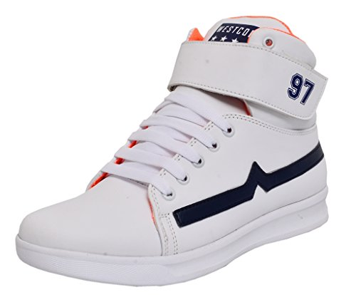 West Code Shoes For Men's Synthetic Boots Leather Casual Shoes and casual sneakers 3044-White Shoes -9