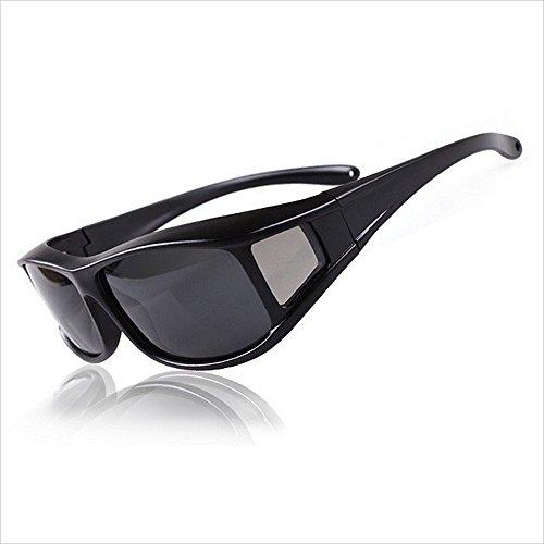 UV-Schutz im klassischen Stil Polarisierte Sonnenbrille Full Frame Schwarz Grau Objektiv UV Schutz Slip Outdoor Fahr Fahrrad Erwachsene Männer und Frauen Radfahren Laufen fahren Angeln Brille