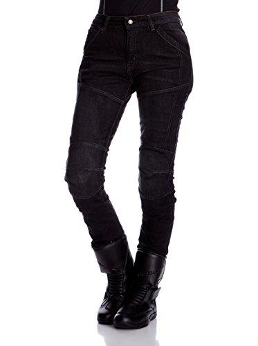 Roleff Racewear Motorradhose Kevlar Jeans für Damen, Schwarz, Größe 31