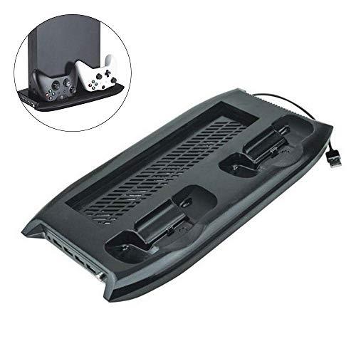 �hler Ventilatorständer, Dual Controller Ladestation mit Discs Speicher, 4 Port USB Hub Multifunktionale Base Fan Cooling System Halterung für Xbox One X Spielkonsole ()