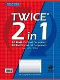 Collegeblock Twice A4 80Bl 2in1 2 Lineaturen Liefermenge = 10