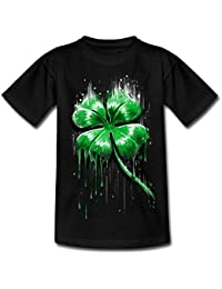 Spreadshirt ST Patrick's Day Melting Four Leaf Clover Kids' T-Shirt
