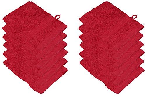 starlabels Serviettes Disponible en 15 couleurs et 5 dimensions doux saugstark 500 g/m², 100% coton, Öko Tex, Coton, Rot, 15 cm x 21 cm