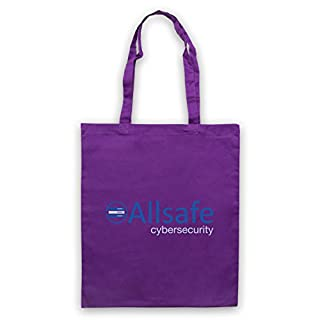 Mr Robot Allsafe Logo Tote Bag, Purple
