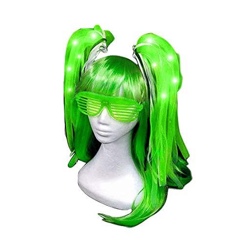 Kostüm Hosenträger Kopfbedeckung - TZJ Halloween Explosion Modelle Leuchtstoffröhre Licht