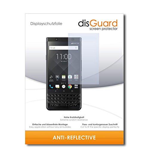 disGuard® Displayschutzfolie [Anti-Reflex] kompatibel mit BlackBerry KeyOne Black Edition [2 Stück] Entspiegelnd, Matt, Antireflektierend, Extrem Kratzfest, Anti-Fingerabdruck - Schutzfolie