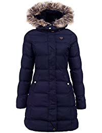 MISSY New Plus Size Womens Puffa Faux Fur Padded Ladies Jacket Coat Black Size 8 10 12 14 16LONG