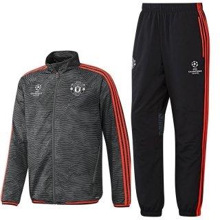 adidas Herren Manchester United UCL Präsentations/Trainings-Anzug, Black/Ash/Solred, 2XL, AC1975
