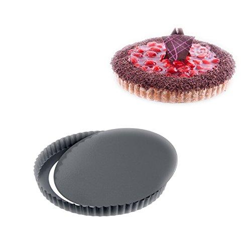 Tarteform,Quicheform 28cm,Nonstick Round Tart Torte Baking Pan,Obstkuchenform und Backform mit Entfernbarem Antihaftbeschichtung,Schwarz von Ayuboom