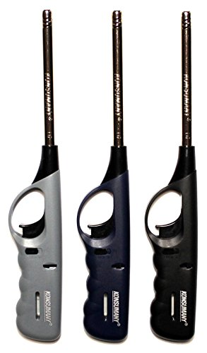 3 x Feuerzeug Gas XXL Stabfeuerzeug 27 cm lang nachfüllbar NEU & OVP