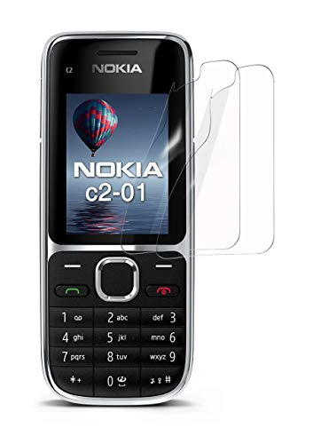 moex 2X Nokia C2-01 | Schutzfolie Klar Display Schutz [Crystal-Clear] Screen Protector Bildschirm Handy-Folie Dünn Displayschutz-Folie für Nokia C2-01 Displayfolie (Nokia X Screen Guard)