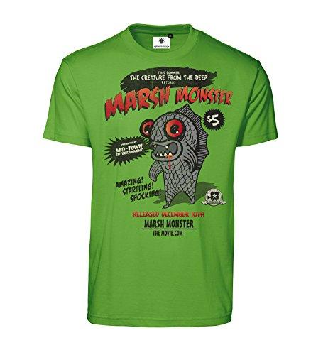 Shirt mit Motiv Marsh Monster (XL, Apfelgrün) (Monster-zeichnungen Für Halloween)