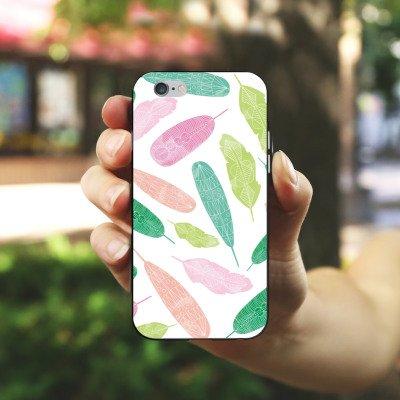 Apple iPhone 5s Housse Outdoor Étui militaire Coque Peinture à l'eau couleurs Motif Housse en silicone noir / blanc