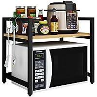 Almacenamiento de cocina xiuyun Estante de Metal Estante (Color : Negro, Tamaño : 60