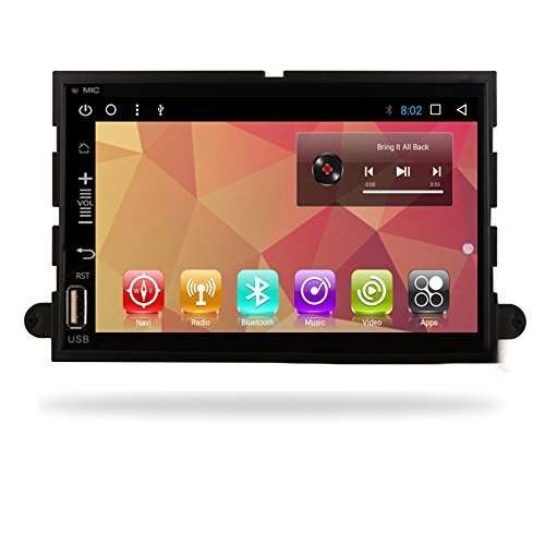 Android 7.1 Car Radio GPS Head Unit Navi for Ford F150 Fusion Expedition Mustang Explorer Car Multimedia Player No DVD Full Touch in Dash GPS Navigation (Android7.1 1+16 G Navi Ford F150)