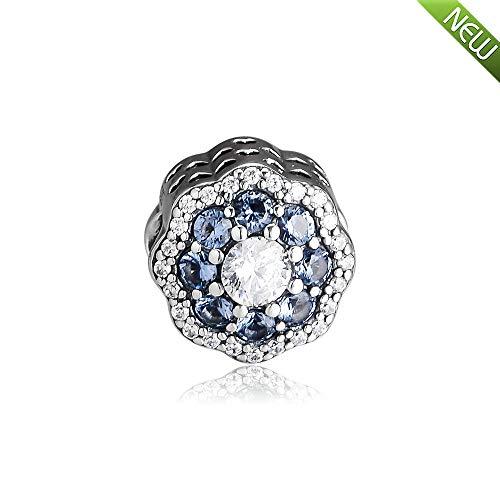 pandocci 2019 primavera fiore blu bead 925 argento fai da te adatto per originale pandora bracciali moda gioielli di fascino