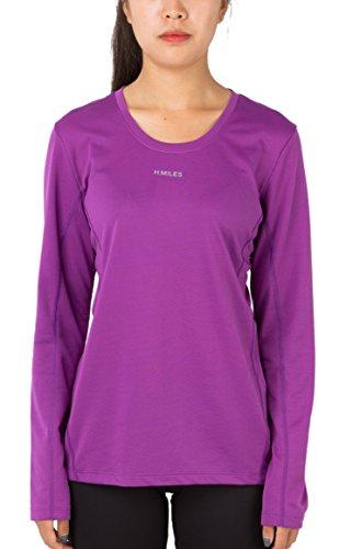 H.Miles Women's Running Tee Gym Fitness Yoga Workout Long Sleeve Sport T Shirt