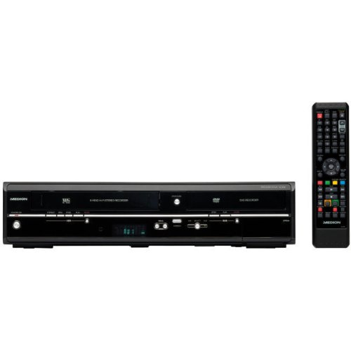 MEDION MD 83425 DVD / VHS-Recorder Kombi-Gerät (DVB-T & Analog Tuner, HDMI, USB, E70004 Kopierfunktion, Timeshift, EPG, Upscalling auf 1080p)