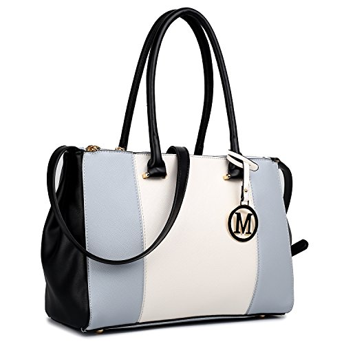 Miss Lulu , Damen Tote-Tasche 1643 Light Grey