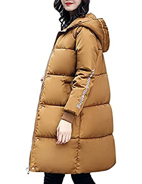 SHOBDW Moda mujer invierno caliente más gruesa sudadera con capucha de algodón abrigo chaqueta de abrigo largo...