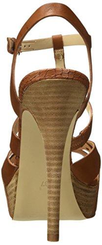 Guess Lea03, Sandali con lace alla caviglia, Donna Marrone (Tan)