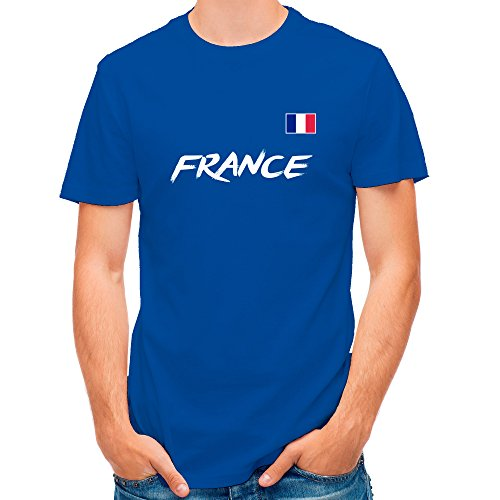 Lolapix Camiseta seleccion de Futbol Personalizada con Nombre y número. Camiseta de algodón para Hombre. Elige tu seleccion. Francia