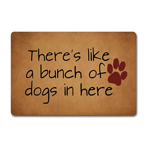 Shanghaiyongyunshangwu WelcomeDoor Mats Bunch of Dogs
