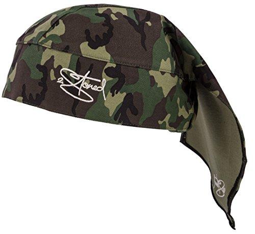 2Stoned Bandana Kopftuch Classic in Woodland Camo mit Stick für Damen, Herren und Kinder -