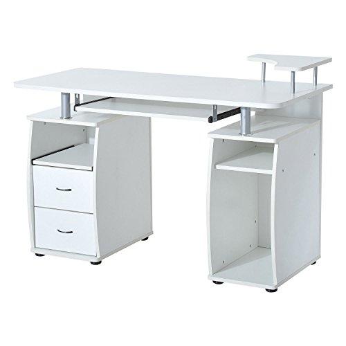 Homcom® Computertisch Eckschreibtisch Winkelschreibtisch Schreibtisch Bürotisch PC Tisch,