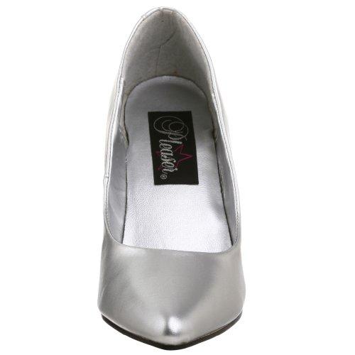 Pleaser Vanity-420, Scarpe Col Tacco Donna Argento metallizzato